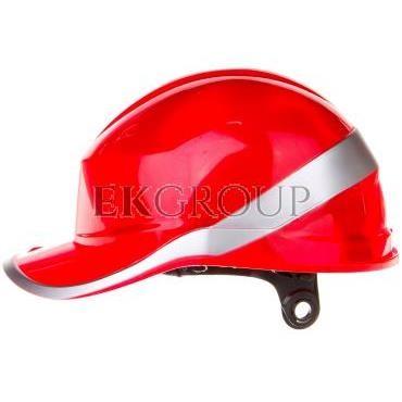 Hełm budowlany czerwony z ABS, rozmiar regulowany DIAM5ROFL-215954