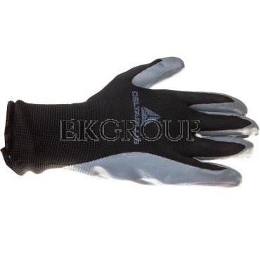 Rękawice dziane z poliestru powlekane nitrylem szaro-czarne rozmiar 9 VE712GR VE712GR09-217418