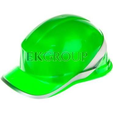 Hełm budowlany zielony z ABS, rozmiar regulowany DIAM5VEFL-215965