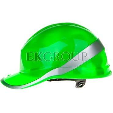 Hełm budowlany zielony z ABS, rozmiar regulowany DIAM5VEFL-215966