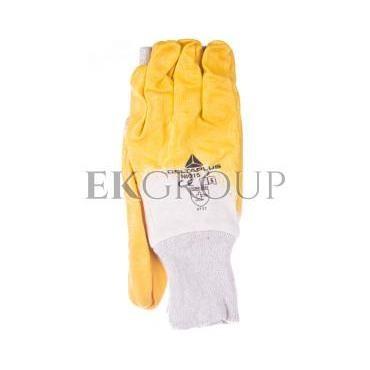 Rękawice z lekkiego Nitrylu na wkładzie z dżerseju, góra wentylowana biało-żółte rozmiar 7 NI01507-217403
