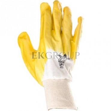 Rękawice z lekkiego Nitrylu na wkładzie z dżerseju, góra wentylowana biało-żółte rozmiar 11 NI01511-217407