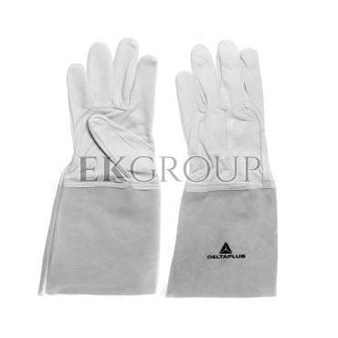 Rękawice spawalnicze ze skóry licowej koziej, Mankiet 15 Cm rozmiar 9 TIG15K09-217416