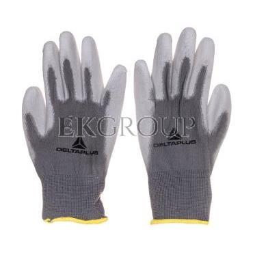 Rękawice dziane z poliestru (100%), dłoń powlekana Poliuretanem, ścieg 13 szare rozmiar 7 VE702PG07-217412