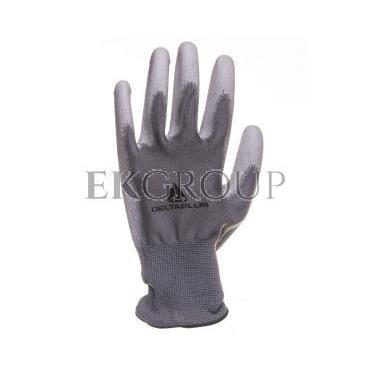 Rękawice dziane z poliestru (100%), dłoń powlekana Poliuretanem, ścieg 13 szare rozmiar 9 VE702PG09-217414