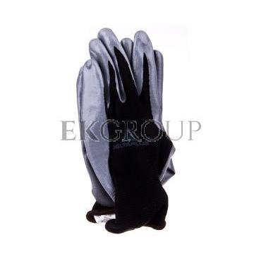 Rękawice dziane z poliestru (100%), dłoń powlekana Nitrylem, ścieg 13 szaro-czarne rozmiar 8 VE712GR08-217417