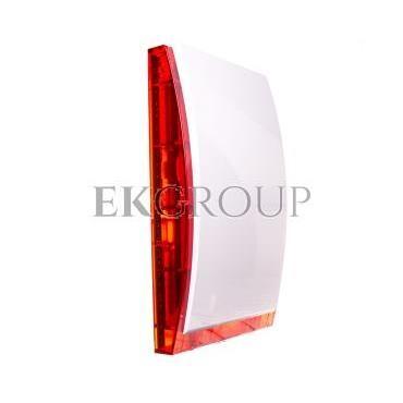 Sygnalizator optyczno-akustyczny, zewnętrzny, z czerwonym światłem LED, wewn. osłona metalowa SP-4003 R-217548
