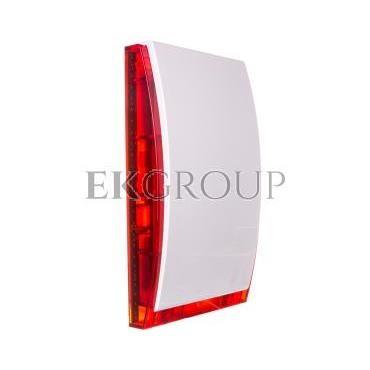 Sygnalizator optyczno-akustyczny, zewnętrzny, czerwone światło LED, z akumulatorem i metalową osłoną SP-4006 R-217552