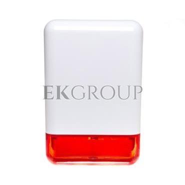 Sygnalizator optyczno-akustyczny, zewnętrzny, z czerwonym światłem LED, osłona metalowa SPL-2010 R-217563