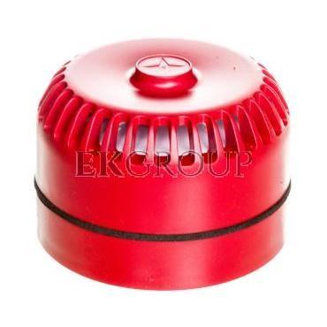 Sygnalizator akustyczny pożarowy z niską podstawą, konwencjonalny, Satel SPP-100-217474