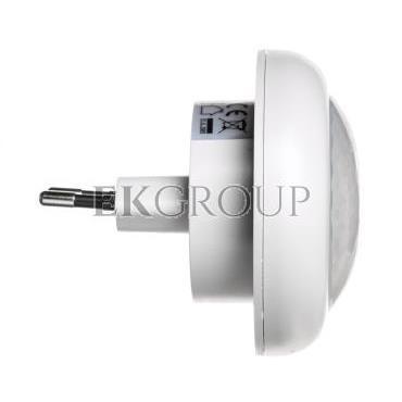Lampka nocna wtykowa LED 0,5W z czujnikiem zmierzchowym biała PIR LX-LD-108P P3304-201437