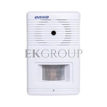 Czujnik ruchu z sygnalizacją i z alarmem 5m biały OR-MA-701-215296