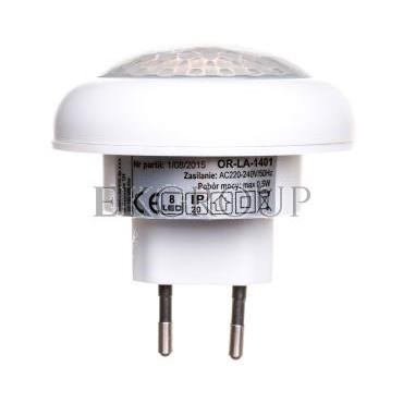 Lampka nocna LED z czujnikiem ruchu 120 stopni 8xLED biała OR-LA-1401-201442