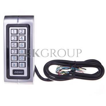 Zamek szyfrowy hermetyczny z czytnikiem kart i breloków zbliżeniowych 12-24V IP68 DC OR-ZS-804-218784