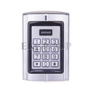 Zamek szyfrowy z czytnikiem kart i breloków zbliżeniowych 12V DC IP44 OR-ZS-802-218786
