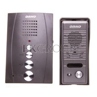 Zestaw domofonowy jednorodzinny bezsłuchawkowy ELUVIO czarny OR-DOM-RE-914/B-215436