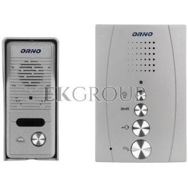 Zestaw domofonowy jednorodzinny bezsłuchawkowy ELUVIO srebrny OR-DOM-RE-914/G-215437