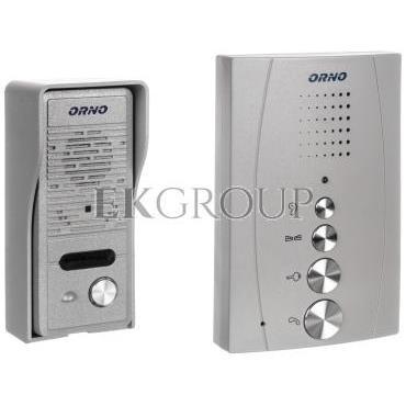 Zestaw domofonowy jednorodzinny bezsłuchawkowy ELUVIO srebrny OR-DOM-RE-914/G-215438