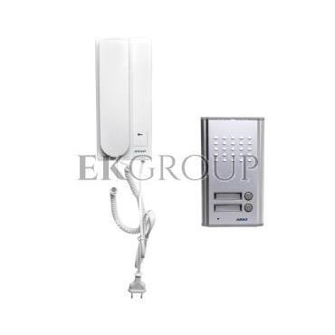 Zestaw domofonowy dwurodzinny FOSSA MULTI biały/ srebny OR-DOM-RL-903-215444
