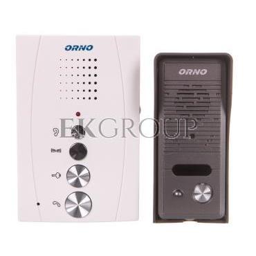 Zestaw domofonowy jednorodzinny bezsłuchawkowy ELUVIO biały OR-DOM-RE-914/W-215449