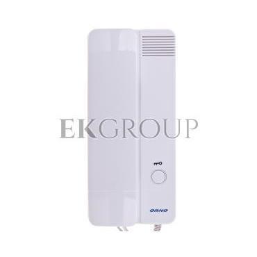 Zestaw domofonowy jednorodzinny z czytnikiem breloków LEGIO biały/ srebny OR-DOM-QH-911-215454