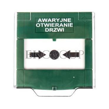Przycisk awaryjnego wyjścia natynkowy 2A/30V DC ręczny zielony APWK-215029