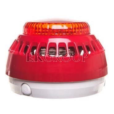 Sygnalizator akustyczno-optyczny 16-32,5V DC 100dB IP21C czerwony SA-K7-217591