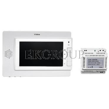 Wideodomofon /monitor 7'' sterowanie bramy, zasilacz 4,5V 19W/ MK-04W-218428