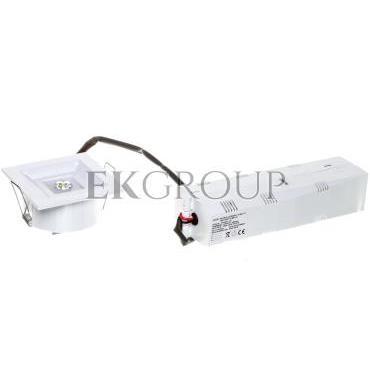 Oprawa LOVATO P LED 3W (opt. otwarta) 3h jednozadaniowa biała LVPO/3W/C/3/SE/X/WH-200913