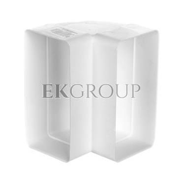 Kolano pionowe 90 stopni 120x60mm białe 460-215068