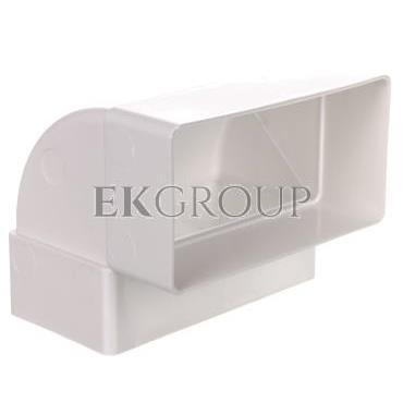 Kolano wentylacyjne pionowe 90 stopni 110x54mm białe WP060 (pakowane woreczek z zawieszką)-215069