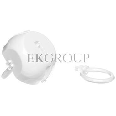 Zatyczka gniazda /zabezpieczenie przed dziećmi/ z kluczem biała ZG-1-205660