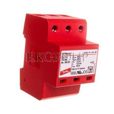 Ogranicznik przepięć C Typ 2 PV 600V DC 3P 12,5kA 2,5kV DEHNguard compact YPV SCI 600 950531-216712