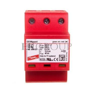 Ogranicznik przepięć C Typ 2 PV 600V DC 3P 12,5kA 2,5kV DEHNguard compact YPV SCI 600 950531-216713