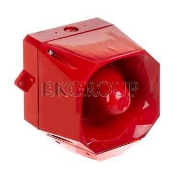 Sygnalizator optyczno-akustyczny Asserta MIDI 230V AC 108dB czerwony IP66 AS/M/SB/230/R/RL 7052111FUL-0130-217613