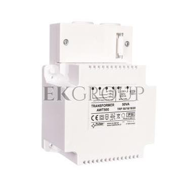 Zasilacz niebuforowy transformatorowy 230VAC 3A/2,8A/2,5A TRP 50VA/16V/18V/20V AWT 500-216206