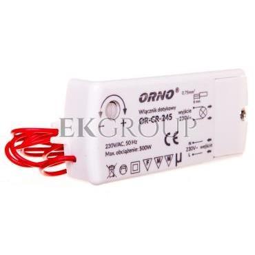 Włącznik dotykowy 500W 230V IP20 biały OR-CR-245-207509