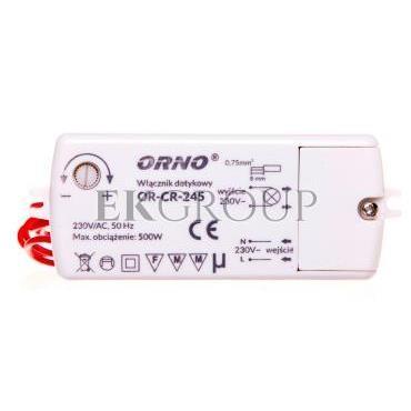 Włącznik dotykowy 500W 230V IP20 biały OR-CR-245-207510