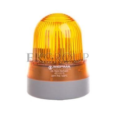 Sygnalizator akustyczno-optyczny żółty LED stałe 92dB 2,3kHz 24V AC/DC IP65 422.310.75-217600
