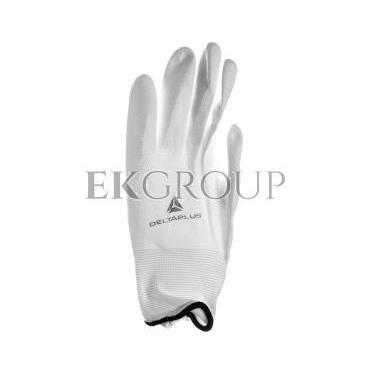Rękawica z poliamidu 100 procent  rozmiar 9 powłoka poliuretanowa na stronie chwytnej i końcach palców ścieg 13 biała VE70209-21