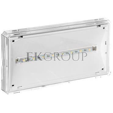 Oprawa awaryjna EXIT LED 1W 130lm 1h dwuzadaniowa AT biała   PU31 ETE/1W/B/1/SA/AT/WH-201083