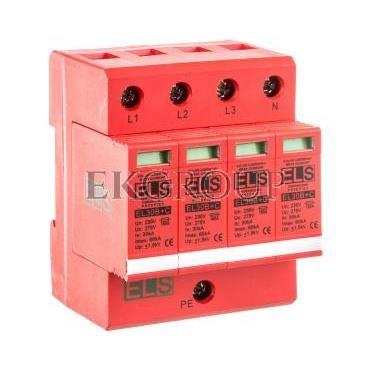 Ogranicznik przepięć B C 4P 275V 60kA 1,5kV EL30B C 4P 7,5kA-216610