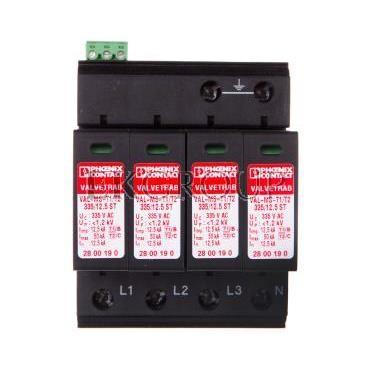 Ogranicznik przepięć typ 1/2 4P 12,5kA 1,2kV 335V AC VAL-MS-T1/T2 335/12.5/4 0-FM 2800644-216493