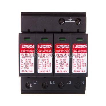 Ogranicznik przepięć typ 1/2 4P 12,5kA 1,2kV 335V AC VAL-MS-T1/T2 335/12.5/4 0 2800645-216495