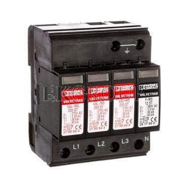 Ogranicznik przepięć typu 2 4P 40kA 1,35kV 275V AC VAL-MS 230/3 1 2838209-216794