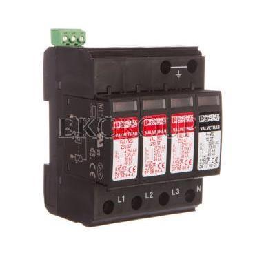Ogranicznik przepięć typu 2 4P 40kA 1,35kV 275V AC VAL-MS 230/3 1 FM 2838199-216796