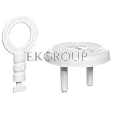 Zatyczka gniazda /zabezpieczenie przed dziećmi/ z kluczem biała ZG-205688