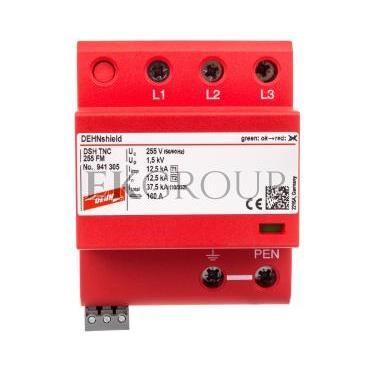 Ogranicznik przepięć B C 3P 12,5/37,5kA 1,5kV DEHNshield TNC 255 FM 941305-216606