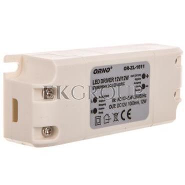 Zasilacz LED 12V DC 12W 1A IP20 OR-ZL-1611-208219