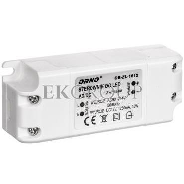 Zasilacz LED 12V DC 15W 1,25A IP20 OR-ZL-1612-208220